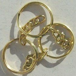 argola dourada para chaveiro