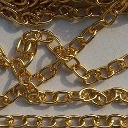 corrente bijuteria em alumínio