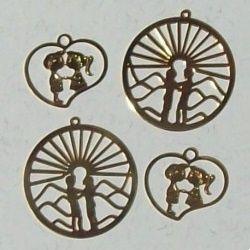pingente em metal para bijuteria
